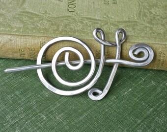 Aluminum Snail Shawl Pin, Scarf Pin, Sweater Clip Wrap Fastener, Snail Pin Closure, Hair Pin, Hair Slide, Knitting Accessories Snail Jewelry