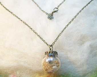 Real Sand and Shell Necklace, Sandy Beach Real Terrarium Necklace, Natural Ocean Jewelry Real Sand Real Shells , Little Mermaid Fairy