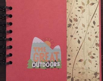 The Great Outdoors, 6x6 mini album, Camping, Outdoor Fun, mini scrapbook, premade album, brag book