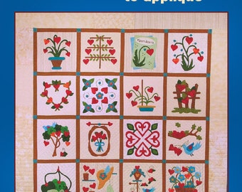 Growing Hearts to Appliqué book, Heart Quilt pattern