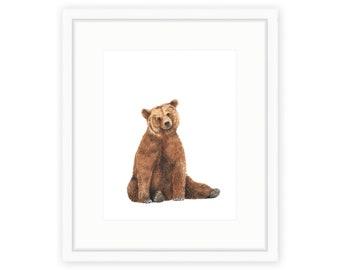 Brown Bear Print