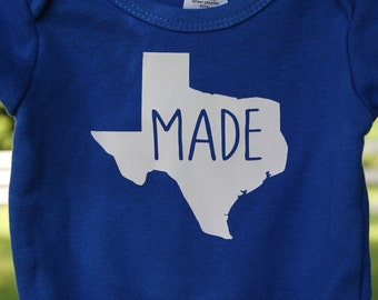Texas Made onesie/tee/raglan