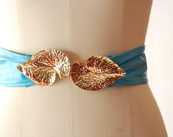 vintage turquoise leather belt