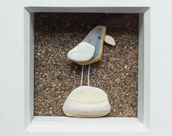 Scottish Sea Pottery Bird Picture - Beach Decor - Bird Lovers Gifts - Handmade in Scotland - Birdwatcher - Coastal Interiors - Unique 3D Art