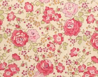 Liberty tana lawn printed in Japan - Felicite - Rose pink mix