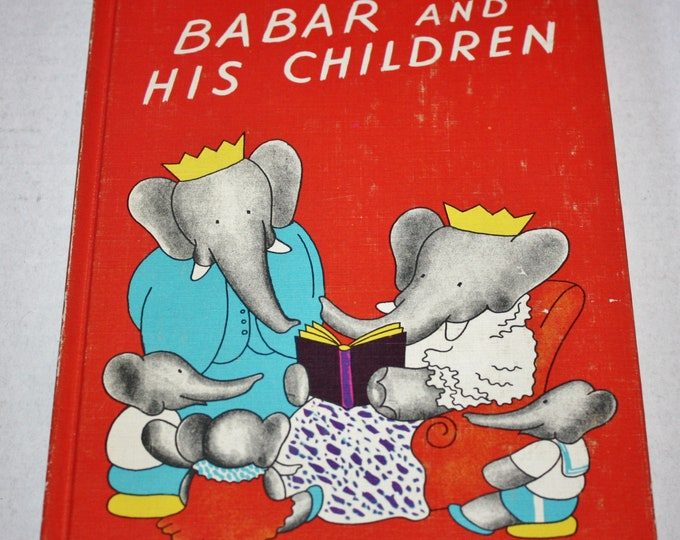 Dandelion Library - Babar and his Children/The Tale of Benjamin Bunny 2 in 1 Flip Book HC 1960's