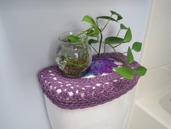 Crochet Toilet Tank Lid Cover Or Crochet Toilet Seat Cover