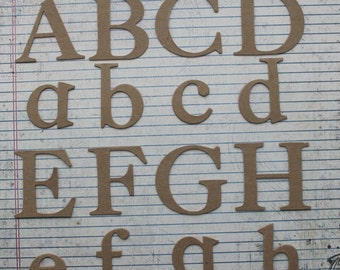 """2"""" tall SERIF uppercase, lowercase or numbers chipboard alphabet die cuts"""