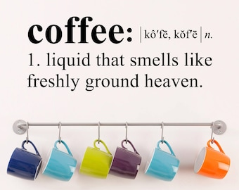 Coffee Wall Decal - Dictionary definition Decal - Coffee Kitchen Decor