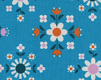 Florametry in Bright Blue -Welsummer -Kim Kight for Cotton + Steel