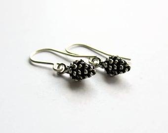 Pine Cone Earrings - Nature Jewelry - Winter Earrings - Woodland Earrings - Christmas Gift for Outdoors Lover - Tree Hugger Gift