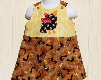 Red Winged  Black Bird A Line Dress Size 12 Months