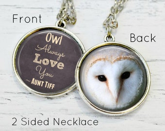 NIECE GIFT - Niece Necklace - Niece Jewelry - Owl Necklace - Owl Love You Forever - Gift for Niece - Aunt Niece Jewelry - I Love My Niece