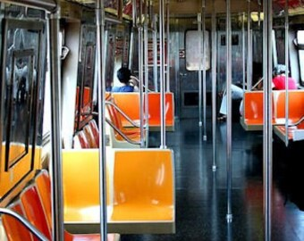 New York Subway, Bright Colors, Fine Art Photography, Matted Print, Wall Art, Wall Hanging, Ready to Frame