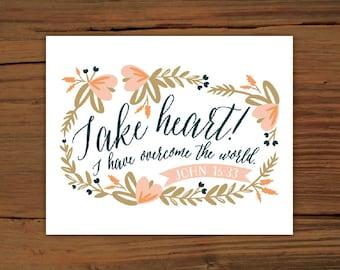 John 16:33 Print