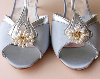 Bud Pearl Bridal Shoe Clips