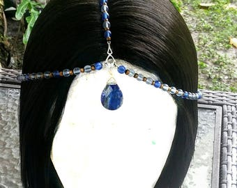 Glass beaded 1 size fits most hair necklace