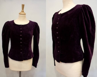 Plum Velvet Laura Ashley Jacket