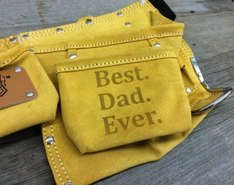 Leather Tool Belt - Father's Day Gift - Gifts for Husband - Personalized Toolbelt for Dad  - Customize with ANY DESIGN!
