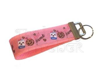 Best Friends - Pink Keychain / Key Fob
