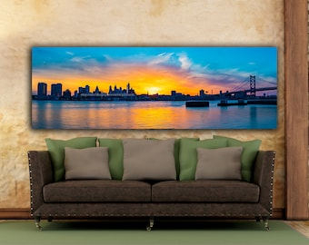 Camden, Delaware River, Philly Waterfront, center city philly, philly skyline, philly office decor, philadelphia skyline, South Jersey