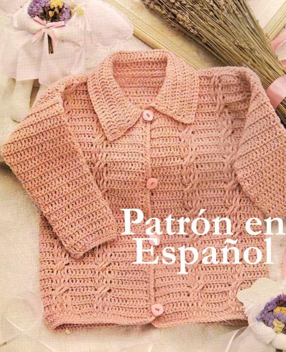 Patrón en español jersey de bebé patrones a crochet sweater