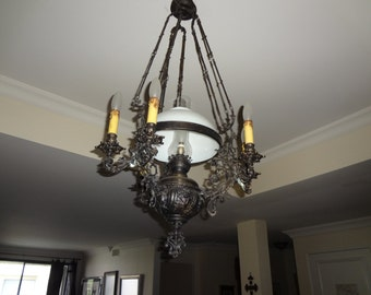 Antique chandelier etsy antique chandelier lamp 19th century aloadofball Choice Image