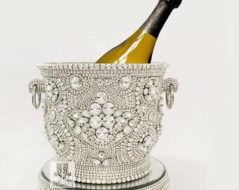 Crystal Ice Bling Champagne Bucket / Ice Bucket
