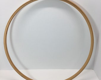 "WOODEN EMBROIDERY HOOP 18"" Wide 3/4"" Thick"