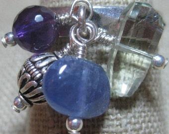 Special Semi-Precious Gems Dangle Ring - R120