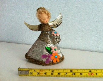 Vintage German Angel Christmas Tree Topper