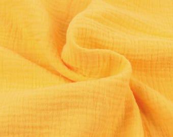 Double cotton gauze / yellow / cut 25cm