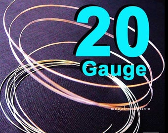 4 feet 20 Gauge Thick 925 Sterling Silver Wire Jewelry Wrapping Half Hard (HH)