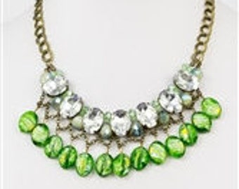 Large Rhinestone Necklace
