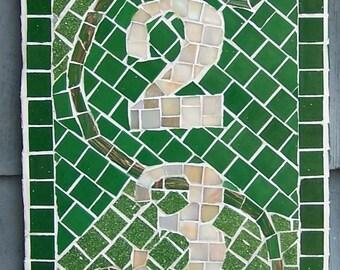 Mosaic Address Plaque - Custom