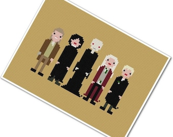 Harry Potter's Foes - The *Original* Pixel People - PDF Cross Stitch Pattern - INSTANT DOWNLOAD