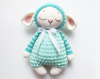 "Crochet pattern ""Sheep Mara and her Baby"" Amigurumi PDF (German/English/Turkish)"