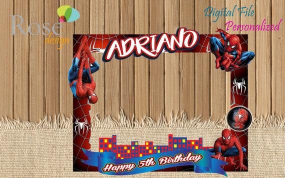 Hombre araña marco foto / Hombre araña fiesta / Birthday
