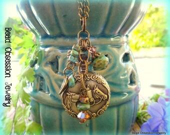 Pocket Watch Necklace; Horse Necklace; Boho Necklace; Bohemian Necklace; Horse Pendant; Horse Jewellery; Long Necklace; Australian Seller