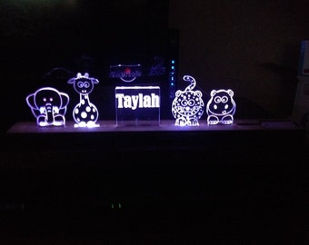 Personalised LED Colour changing night lights