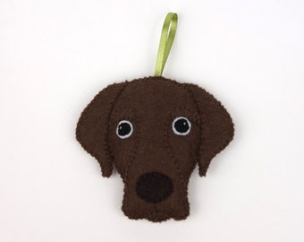 Felt Dog Ornament - Chocolate Labrador