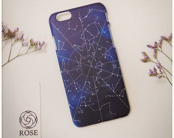 Phone Case iPhone7 and iPhone6 - Celestial Map - Blue Constellation