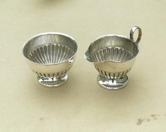 Milk Jug & Sugar Basin - Silver Plated - EH Parkin - Vintage Silverplate