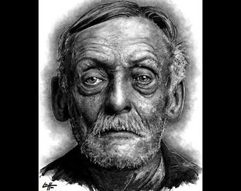 "Print 8x10"" - Albert Fish - Serial Killers American Boogey Man Dark Art Lowbrow Pop Horror Beard Death Cannibal Murder Scary Spooky Monster"