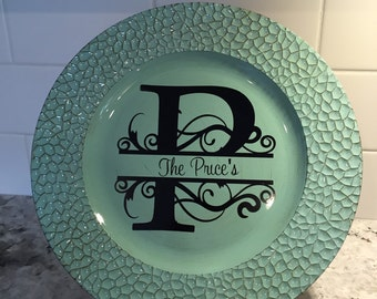 Family Initial Decorative Plate