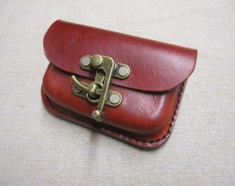Leather Possibles Pouch - Holds Altoids Tin - Bushcraft