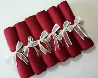 6 BURGUNDY PASHMINA SHAWL.You can choose Any Color !!!!. Wedding Favors. Pashmina Shawl. Bridal Shawl. Bridesmaid shawl. Bridesmaid gift.