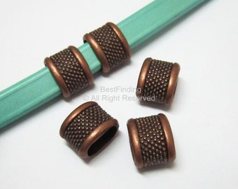 10pcs Licorice large dots sliders Antique copper Aka spacer licorice findings