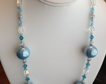 Blue Beach Colors Long Necklace