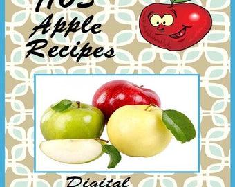 1165 Apple Recipes E-Book Cookbook Digital Download